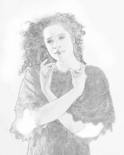 Angel Coulby: Sketch Art