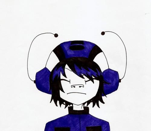 Black and blue noodle