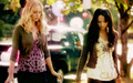 Bonnie Bennett and Caroline Forbes