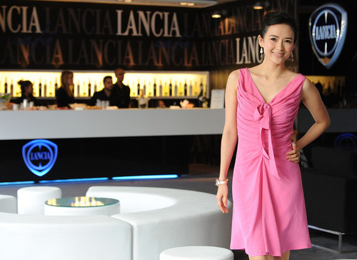 Celebrities At The Lancia Cafe - November 4, 2011