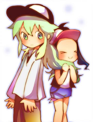 Chibi's of N and Hilda