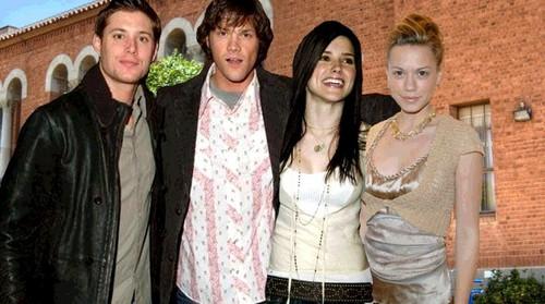 Dean (Jensen), Sam (Jared), Brooke (Sophia), Haley (Bethany)