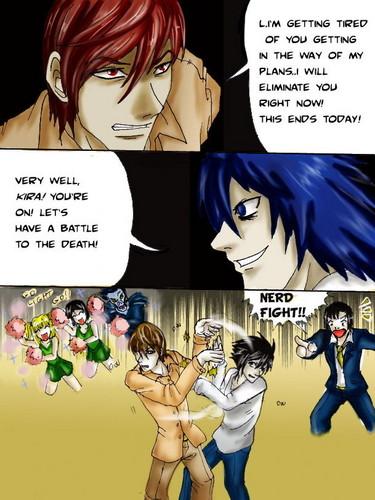 Death Note Nerd Fight