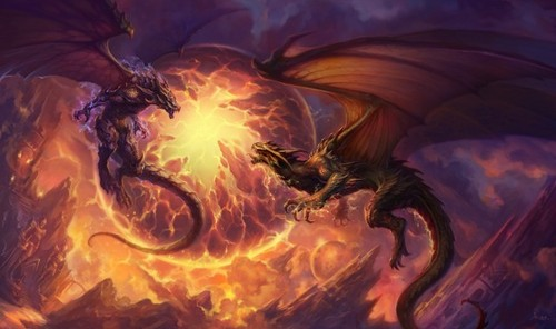 Dragons Fighting