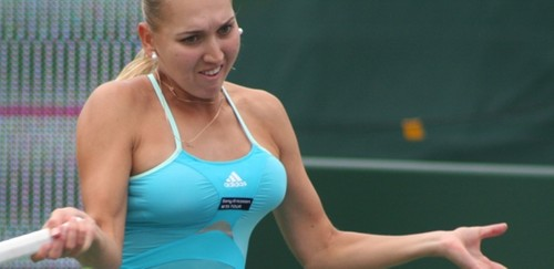 Elena Vesnina breast..