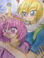 Finn and Young Princess Bubblegum