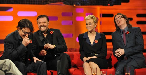 Johnny Depp wallpaper containing a business suit, a suit, and a well dressed person entitled Graham Norton Show-london