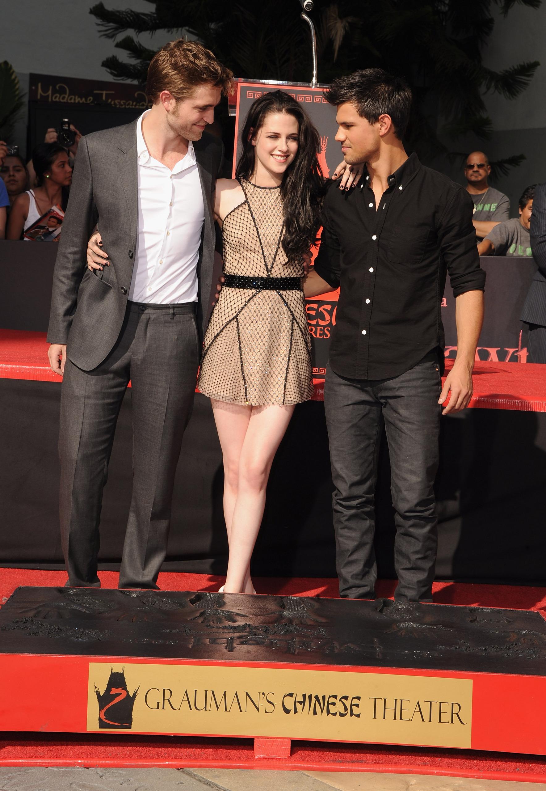 HQ's of Robert Pattinson, Kristen Stewart & Taylor Lautner at the handprint ceremony