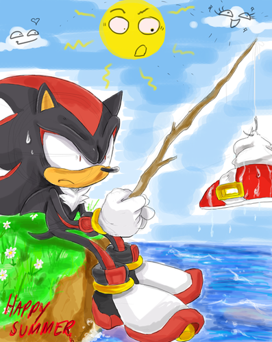 Shadow The Hedgehog wallpaper probably with anime called Happy Summer
