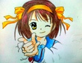 Haruhi Suzumiya ( made by me ) - anime fan art