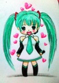 Hatsune miku ( made by me ) - anime fan art