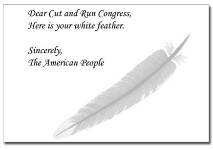 Here's your white feather