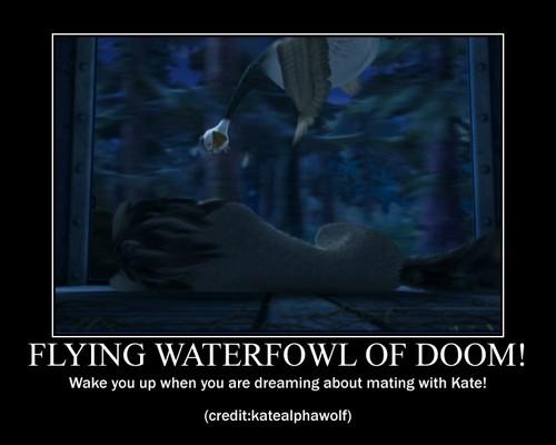Humphrey demotivational! (flying waterfowl)