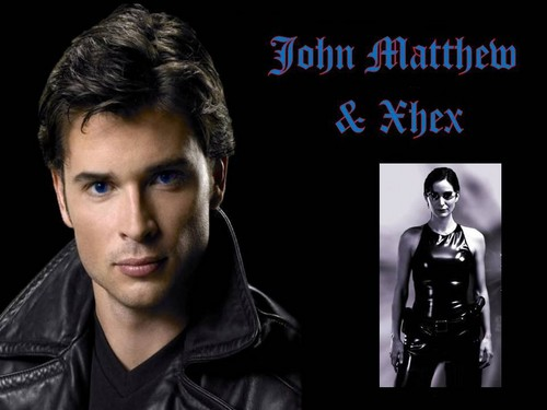 The Black Dagger Brotherhood karatasi la kupamba ukuta with a portrait called John Matthew & Xhex