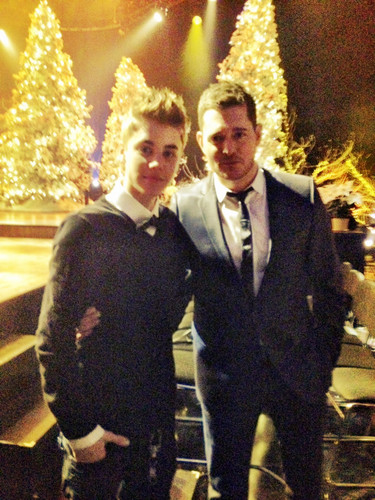 Justin Bieber and Michael Buble