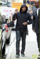 Kanye West: Snakeskin Backpack in NYC - kanye-west photo