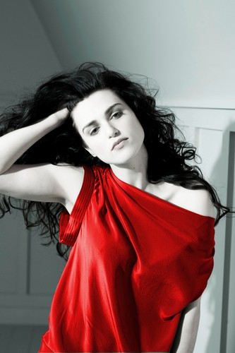 Katie in red