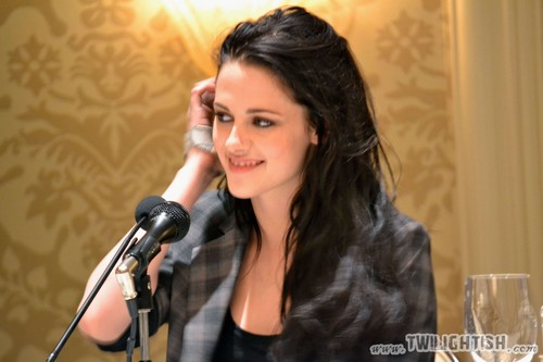 Kristen at BD Press Conference