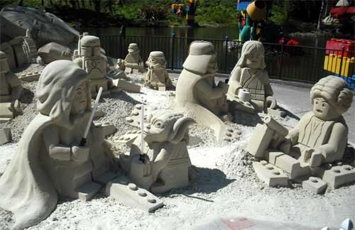 Lego stella, star Wars- Sand Sculpture