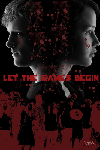 The Hunger Games Movie 바탕화면 with a 불, 화재 and 아니메 entitled Let The Games Begin