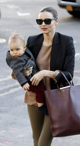 Miranda Kerr and Flynn in NYC