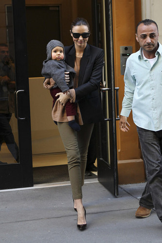 Miranda Kerr and Flynn in NYC