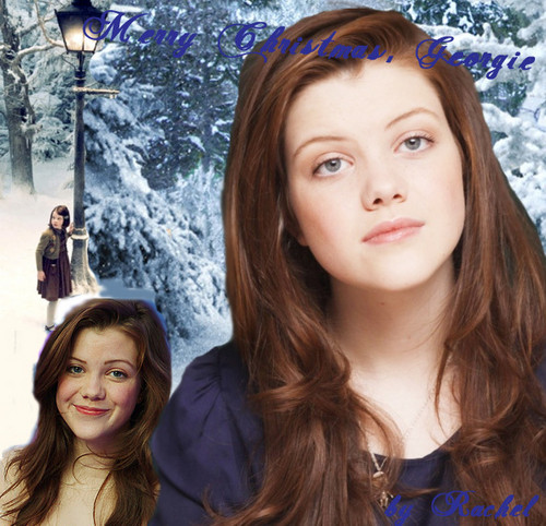 My navidad graphic for Georgie Henley *for a video*