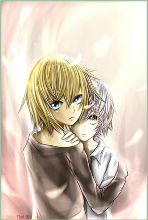 death note guys images near and mello wallpaper and background