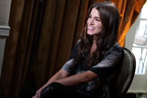 Nikki being interviewed at the Access Hollywood Press Junket