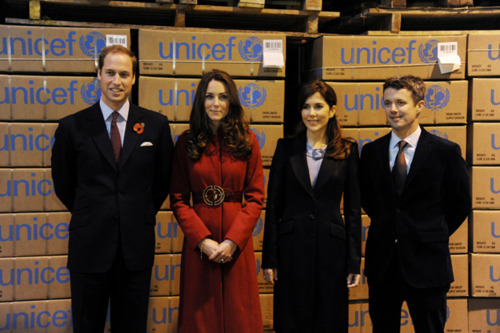 Prince William and Kate Middleton wallpaper containing a business suit and a suit called Prince William&Duchess Catherine with Prince Frederik and Princess Mary