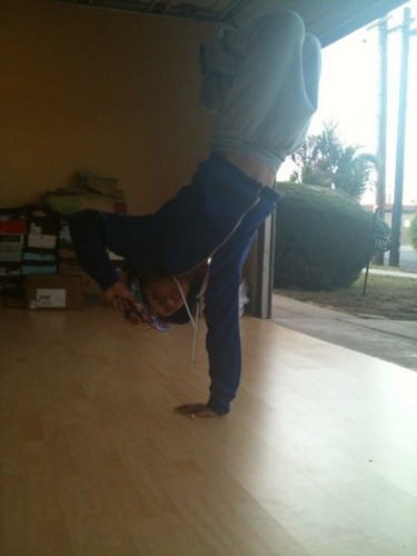 Roc Doing a Hand Stand!