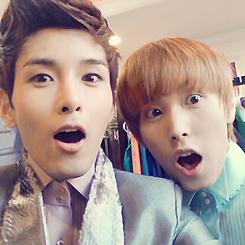 Ryeowook Selca with SJ Members