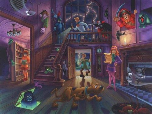 Scooby-Doo fondo de pantalla titled Scoobys Hounted Mansion