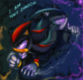 Shadowy Figure - shadow-the-hedgehog photo