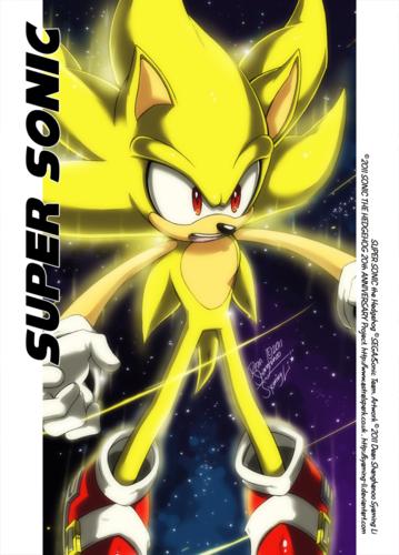 Nhím Sonic hình nền with anime called Super Sonic