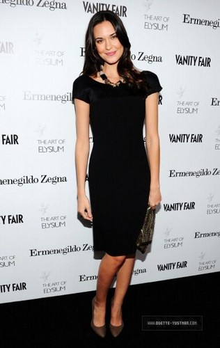Odette Yustman wallpaper with a portrait titled The Ermenegildo Zegna And Vanity Fair Event - November 3