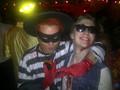 Thomas as the Hamburglar (with Kyle Gallner) Halloween 2011