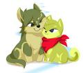 Toon Wolf Link & Shiba Inu Tetra - wolf-link fan art