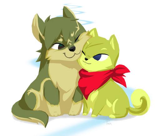Toon lobo Link & Shiba Inu tetra