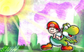 yoshi - Yoshi and Baby Mario wallpaper
