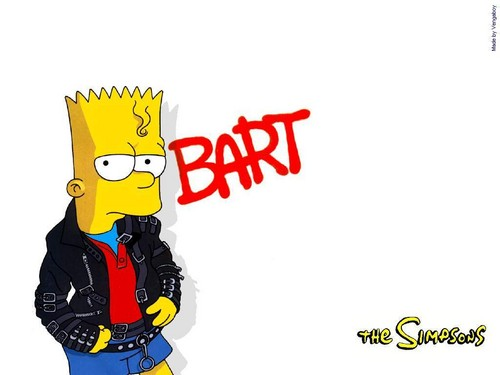 The Simpsons kertas dinding called el barto