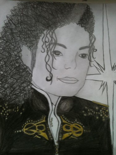 hand dawing of MJ
