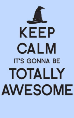 keep calm it gonna be totally awesome