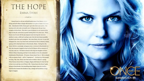 Once Upon A Time wallpaper possibly containing a newspaper titled Emma Swan
