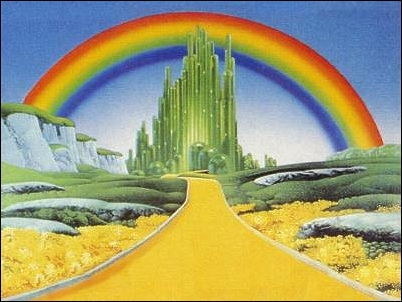 The Wizard of Oz wallpaper with a business district titled oz
