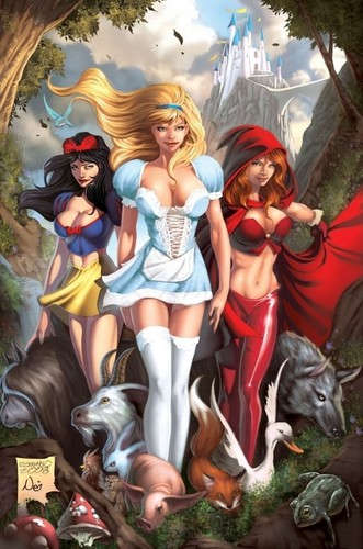 the Snow White,the Cinderella&the little Red Riding hood,lmfao