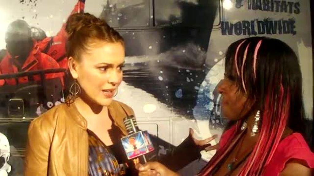 "Alyssa - Interview ""Stand Up For The Ocean"" Benefit, October 29, 2011"