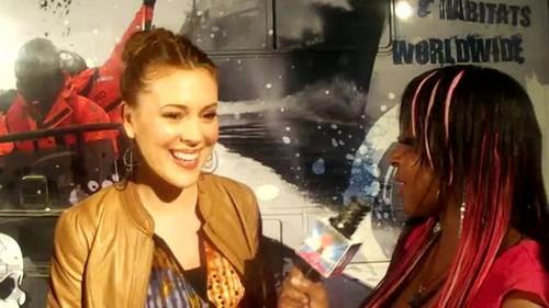 """アリッサ・ミラノ 壁紙 containing a portrait entitled Alyssa - Interview """"Stand Up For The Ocean"""" Benefit, October 29, 2011"""