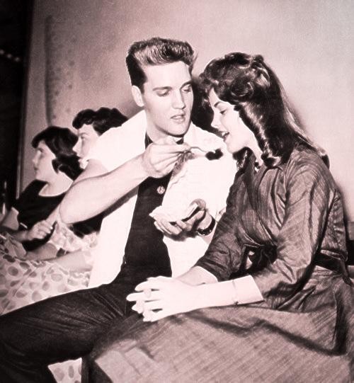 Elvis and Priscilla Presley Young