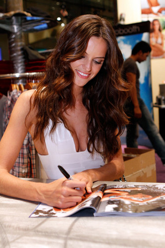 2011 SI Swimsuit Models At The Hard Rock Hotel & Casino's Hard Rock Store